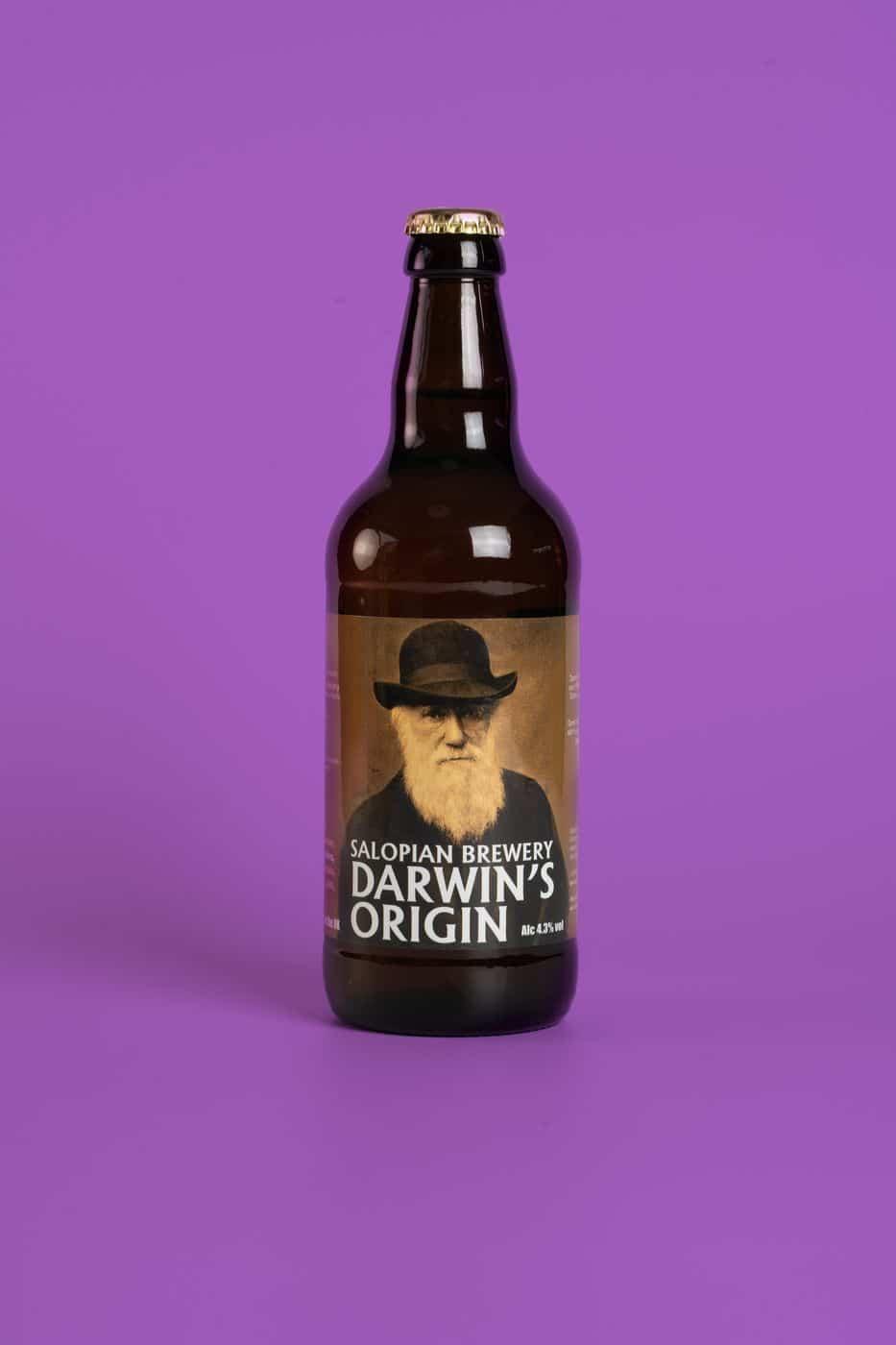 Contast Colour Darwin's Origin Bottle
