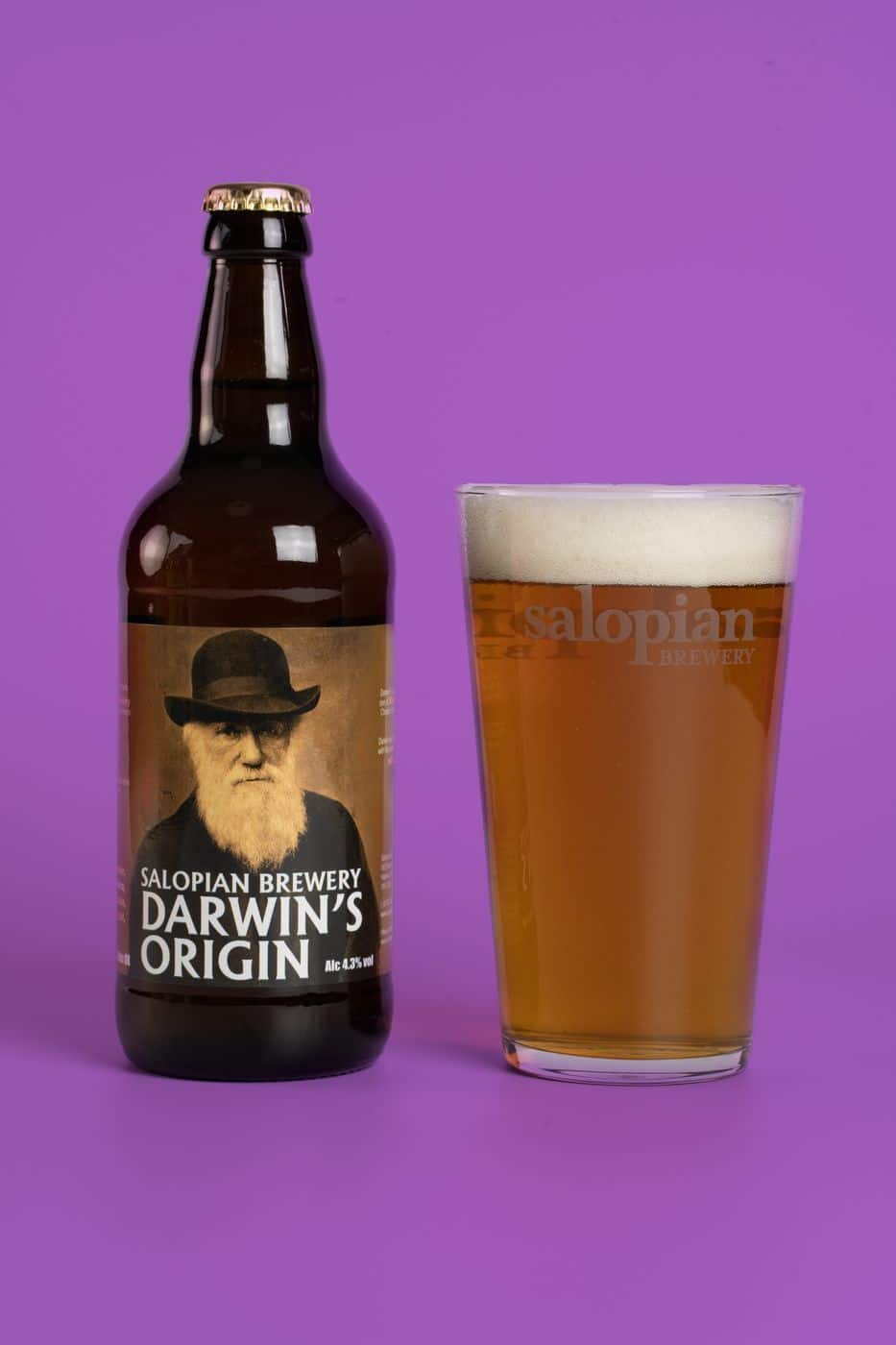 Contast Colour Darwin's Origin With Glass